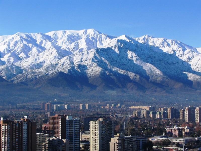 climate and weather in Chile, Santiago and the Andes